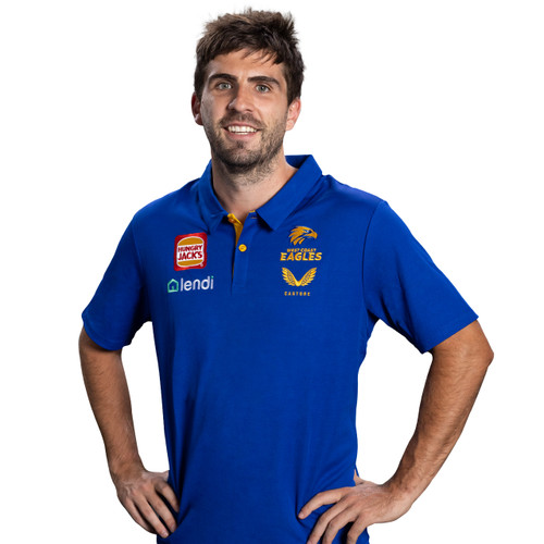 West Coast Eagles Castore Men's Media Polo Royal