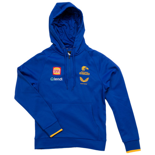 West Coast Eagles Castore Youth Travel Hoody Royal