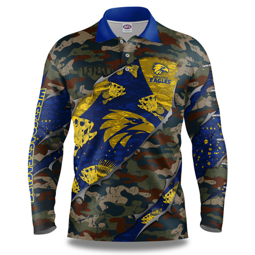 West Coast Eagles Men's Skeletor Fishing Shirt
