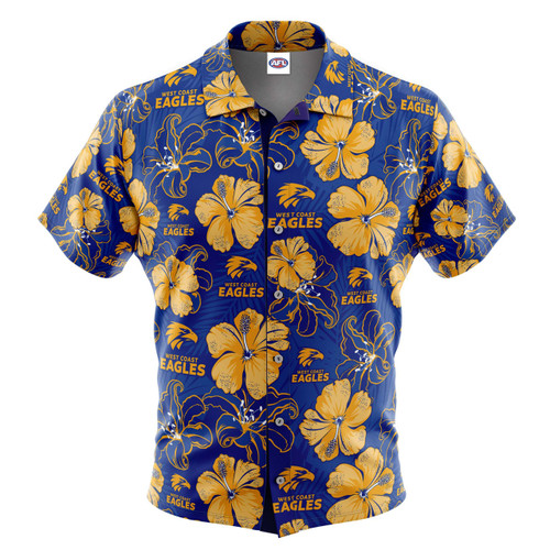 West Coast Eagles Men's Floral Hawaiian Shirt