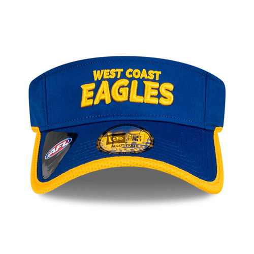 West Coast Eagles New Era Sun Visor Royal/Gold