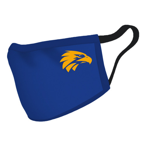 West Coast Eagles Adult Face Mask  (new design)