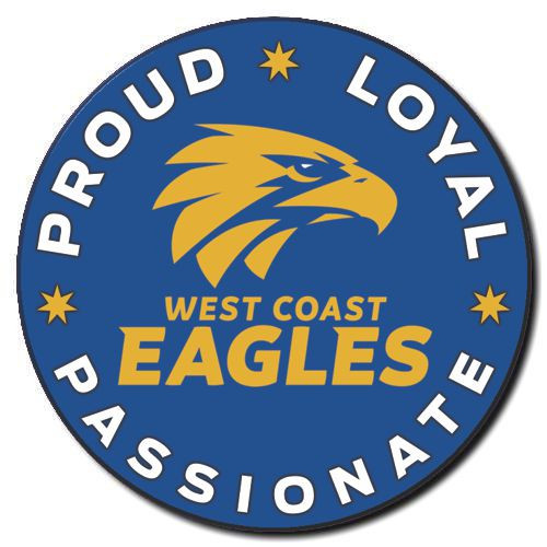 West Coast Eagles Proud Loyal Passionate Badge