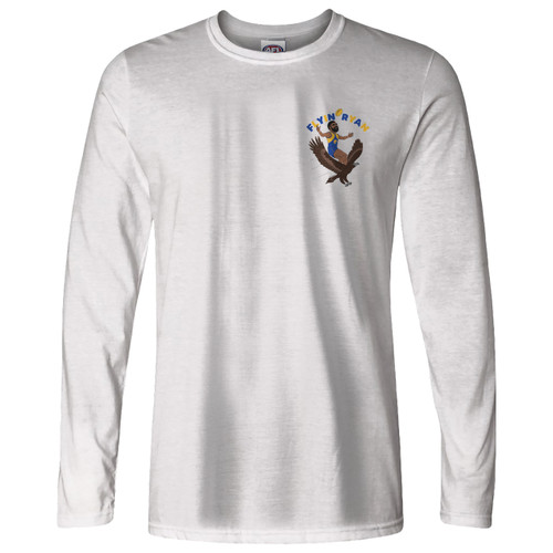West Coast Eagles Men's Flyin' Ryan Graphic Long Sleeve Tee White