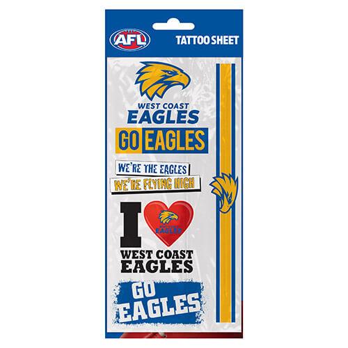 West Coast Eagles Tattoo Sheet