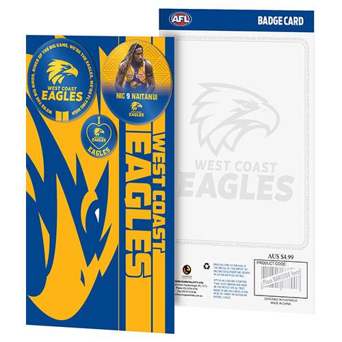 West Coast Eagles Logo & Player Badge Card