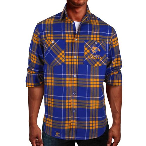 West Coast Eagles Ringbark Flannel Shirt