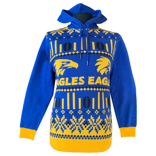 West Coast Eagles Men's Hooded Ugly Sweater