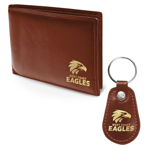 West Coast Eagles PU Wallet & Key ring gift pack
