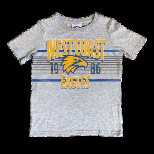 West Coast Eagles Youth Printed T-Shirt - Grey