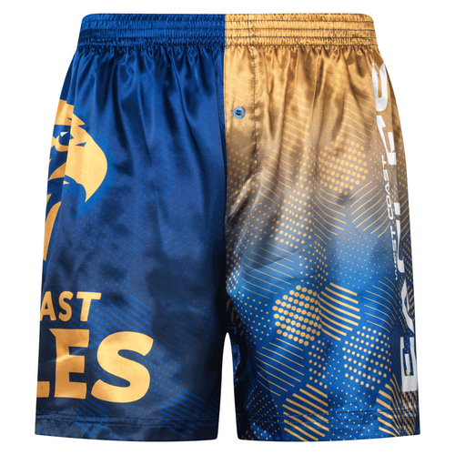 West Coast Eagles Men's Satin Logo Boxer Short