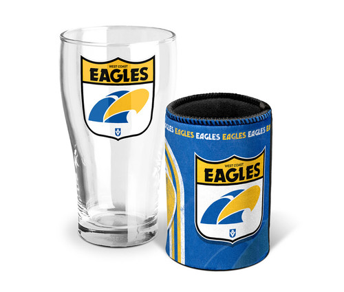 West Coast Eagles Heritage Pint & Can Cooler Pack