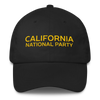 CNP yellow-on-black unstructured baseball hat