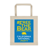 #FreeTheBear tote bag