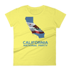 CNP California map women's short sleeve t-shirt