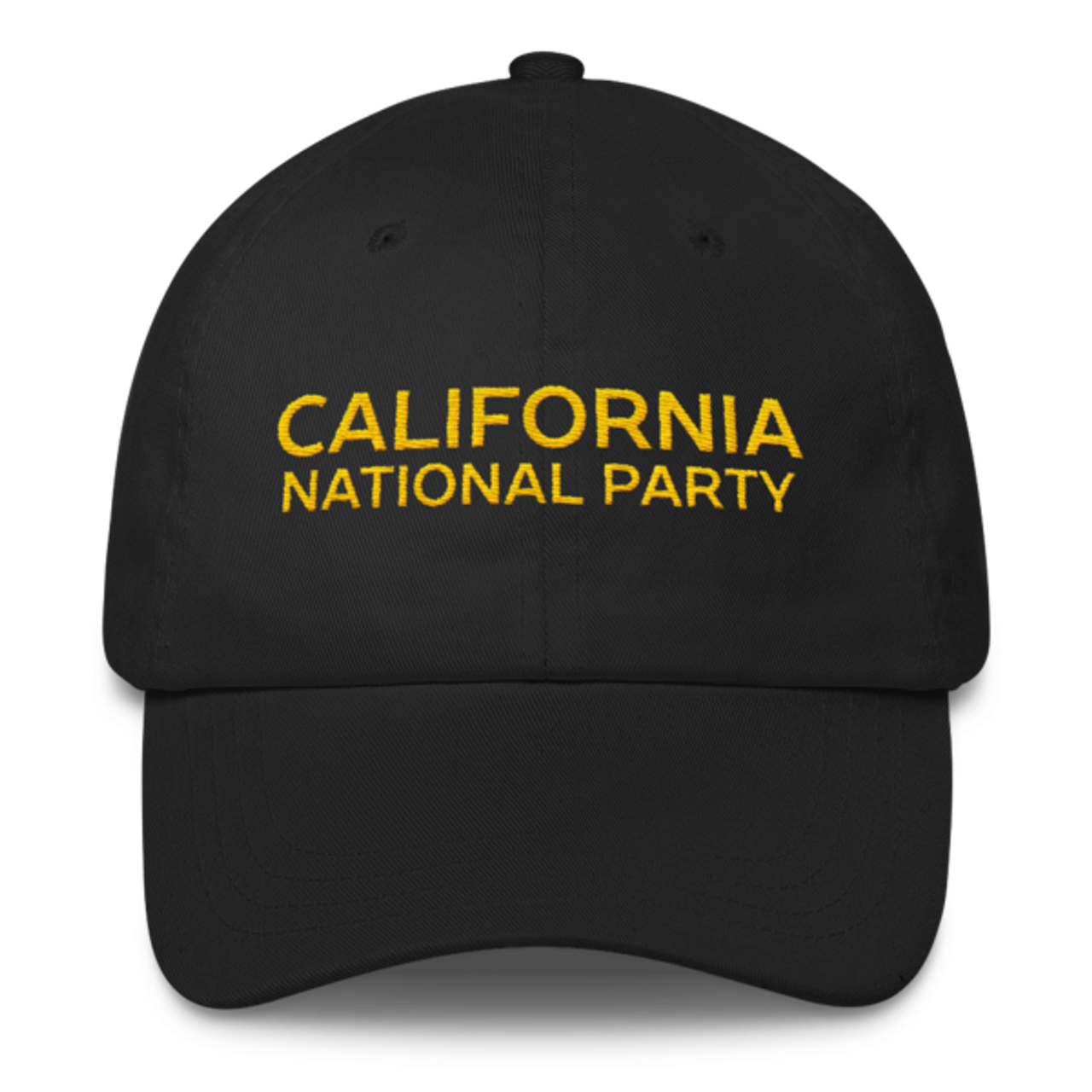 dc65d280e194dc CNP yellow-on-black unstructured baseball hat - FreeTheBear.store
