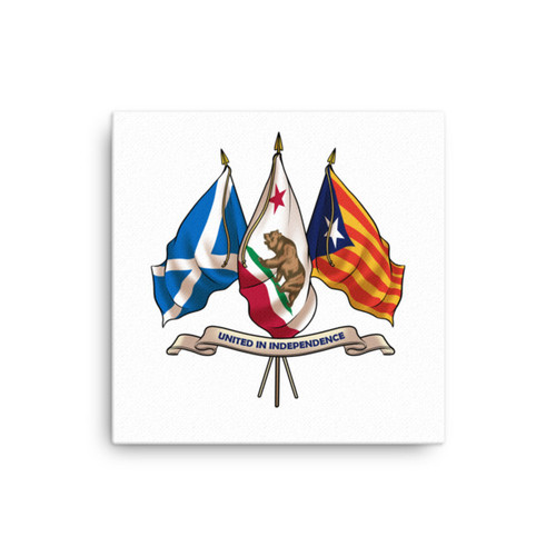 Three nations united in Independence.  Canvas print