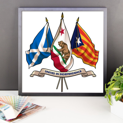 Three nations united in Independence. Framed poster