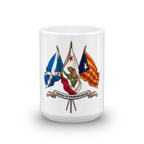 Three nations united in Independence. Mug