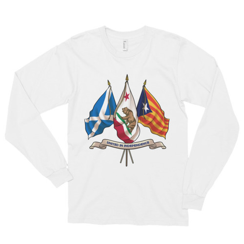 Three nations united in Independence. Long sleeve t-shirt (unisex)