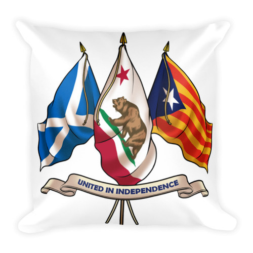 Three nations united in Independence.  Square Pillow