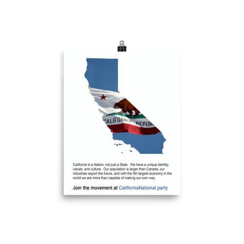 CNP California map flag poster (matte)