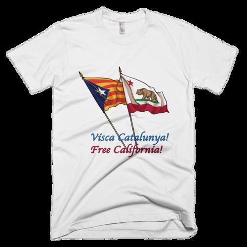 Visca Catalunya, Free California! Short sleeve men's t-shirt