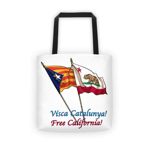 Visca Catalunya, Free California tote bag