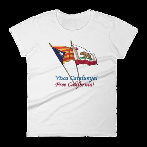 Visca Catalunya, Free California women's short sleeve t-shirt