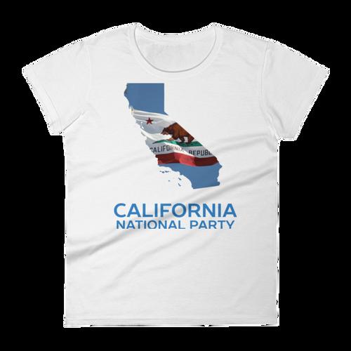 CNP California map women's short sleeve t-shirt