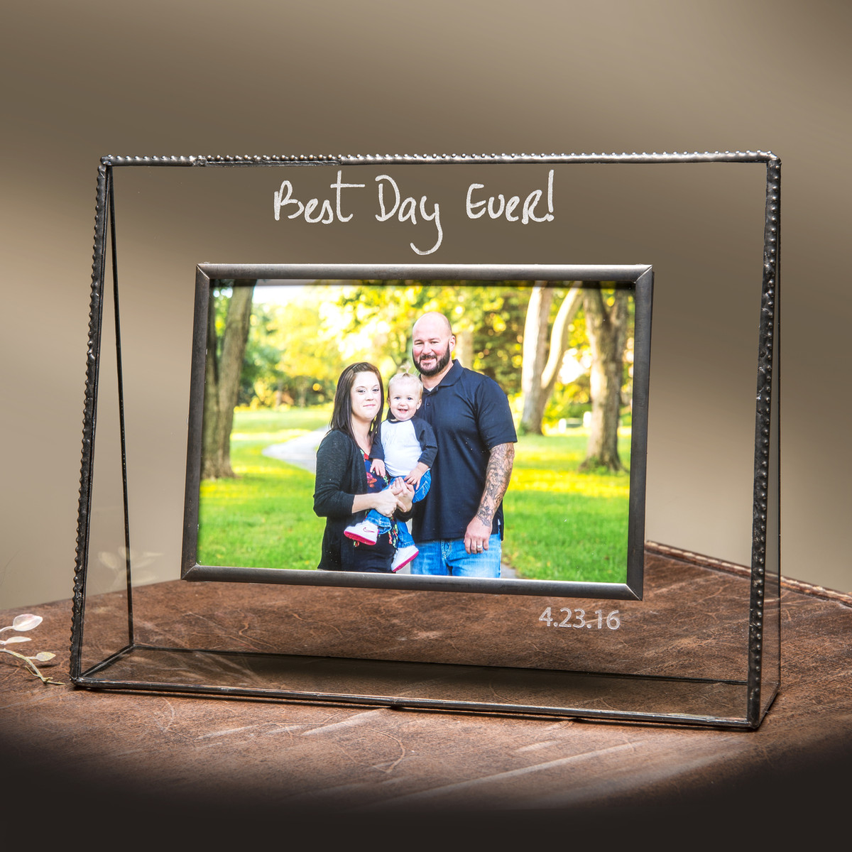 Best Day Ever Personalized Engraved Horizontal Or Vertical Glass Picture Frame