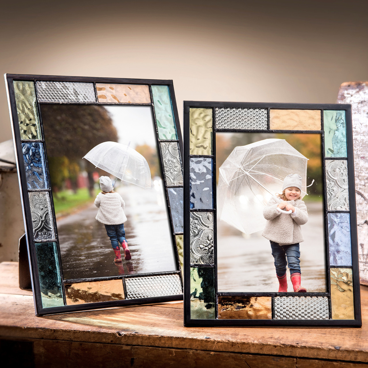 Picture frame Clear glass jewels 4x6-5x7-8x10