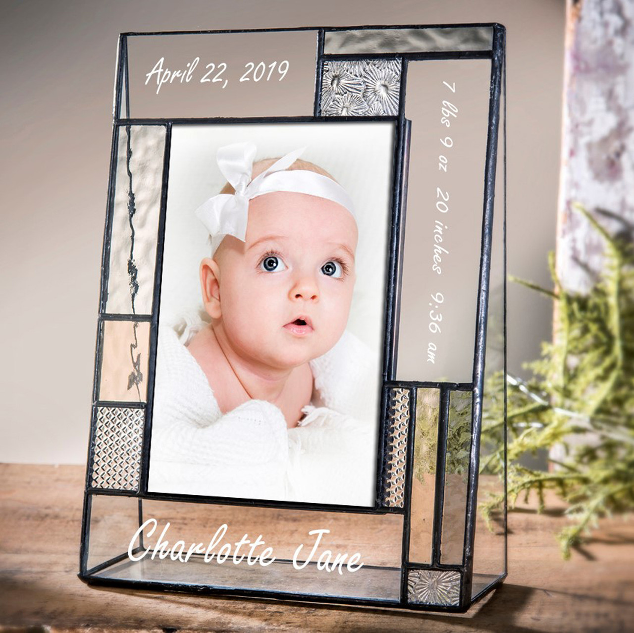 Personalized 4x6 photo frame picture frame with Custom Engraving Engraved photo frame