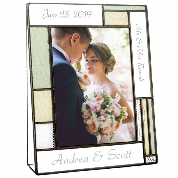 Personalized Antique Wedding Picture Frame J Devlin Pic 430 Vertical Ep619