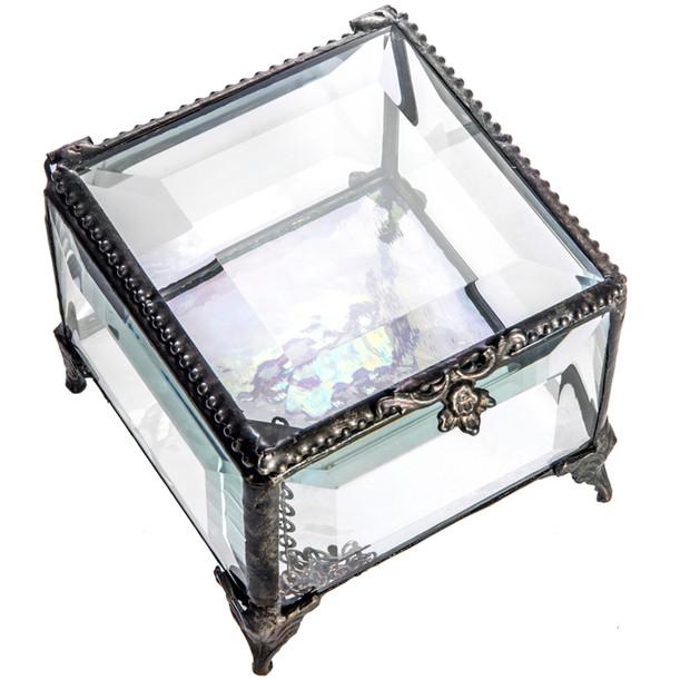Clear Glass Jewelry Box