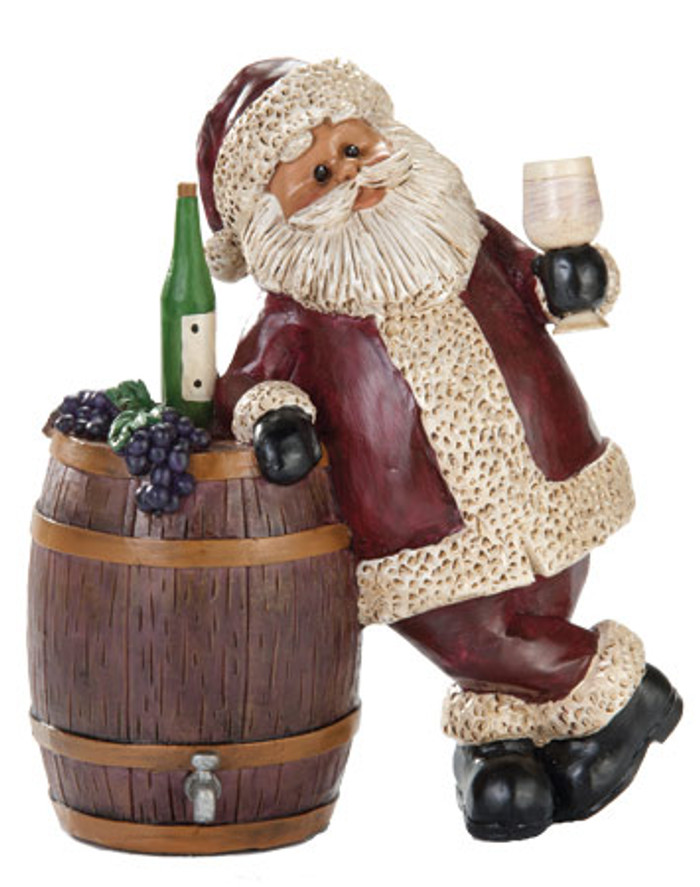Wine Santa Figurine