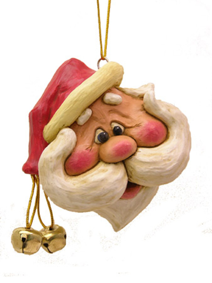 Wide Santa Ornament