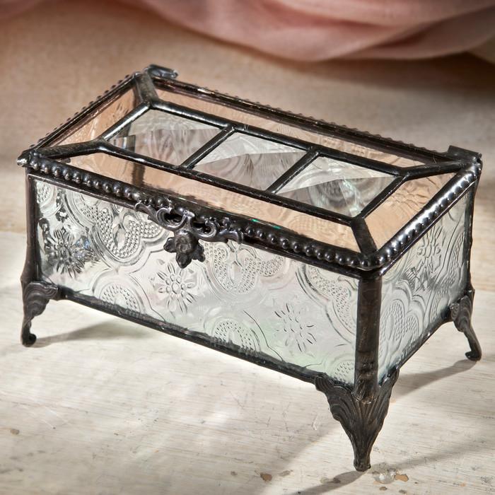 Box 514 glass jewelry box