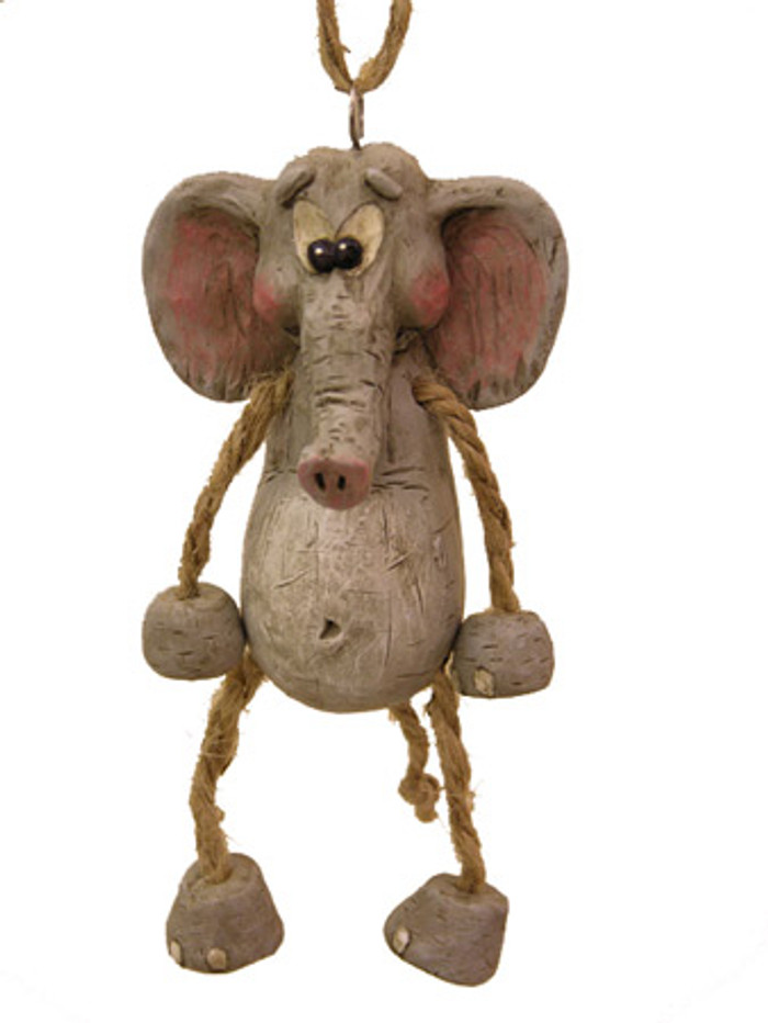 Bert Anderson Dangly Elephant Ornament