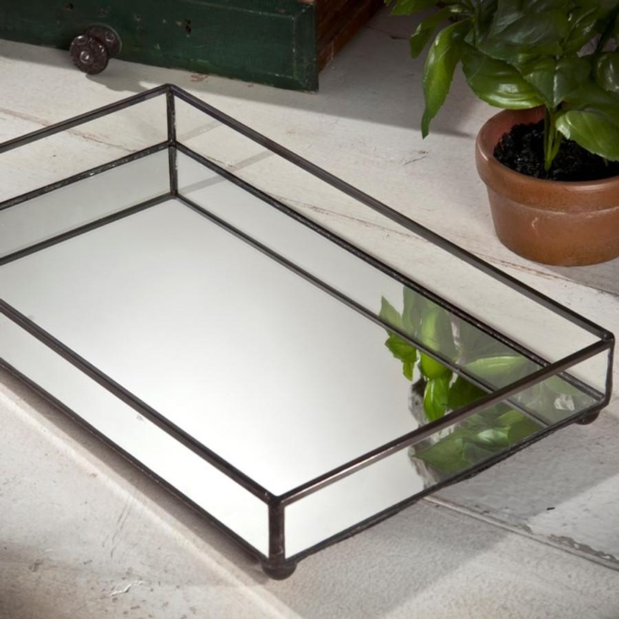 J. Devlin Tra 109 Vanity Tray Perfume  Tray Organizer With Mirror Bottom