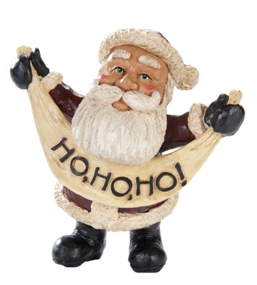 Ho Ho Ho Santa Figurine