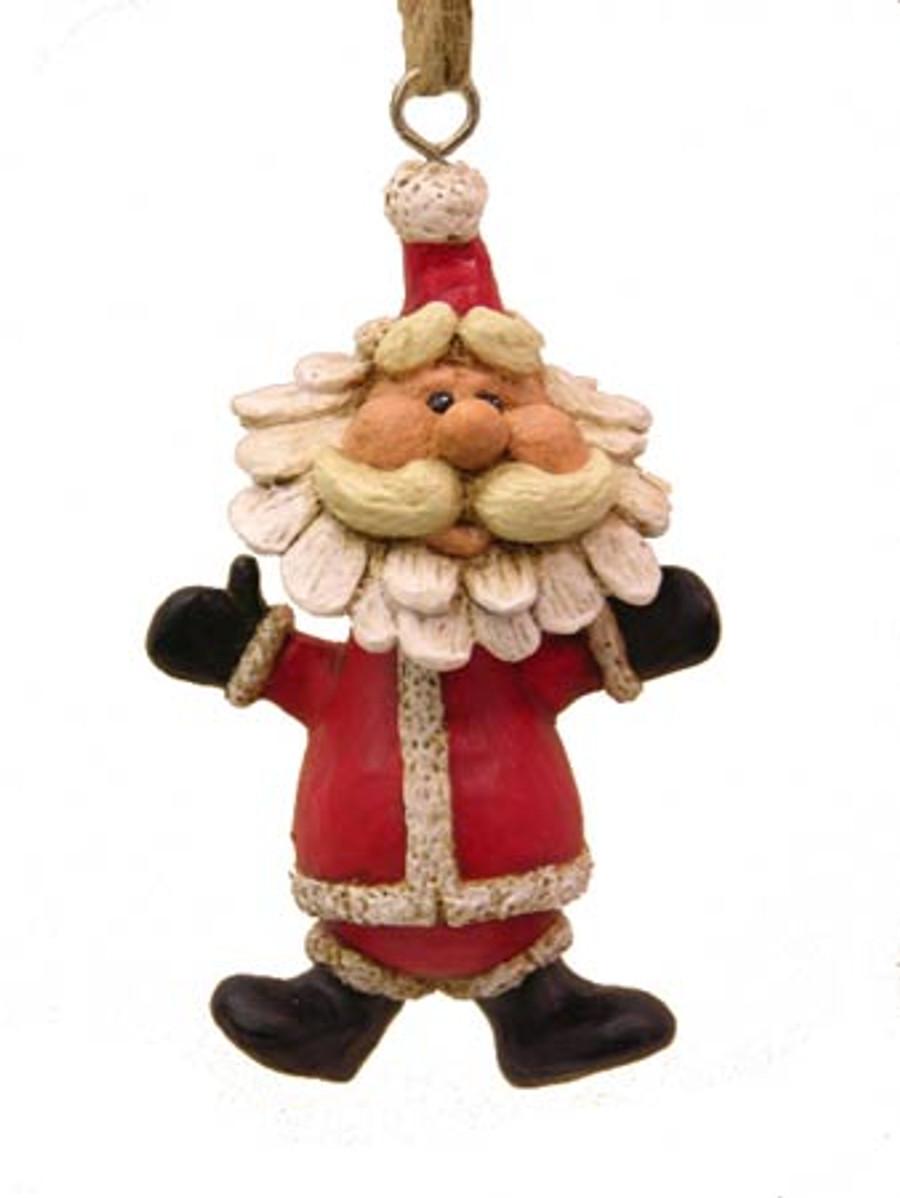 Arms Out Santa Ornament