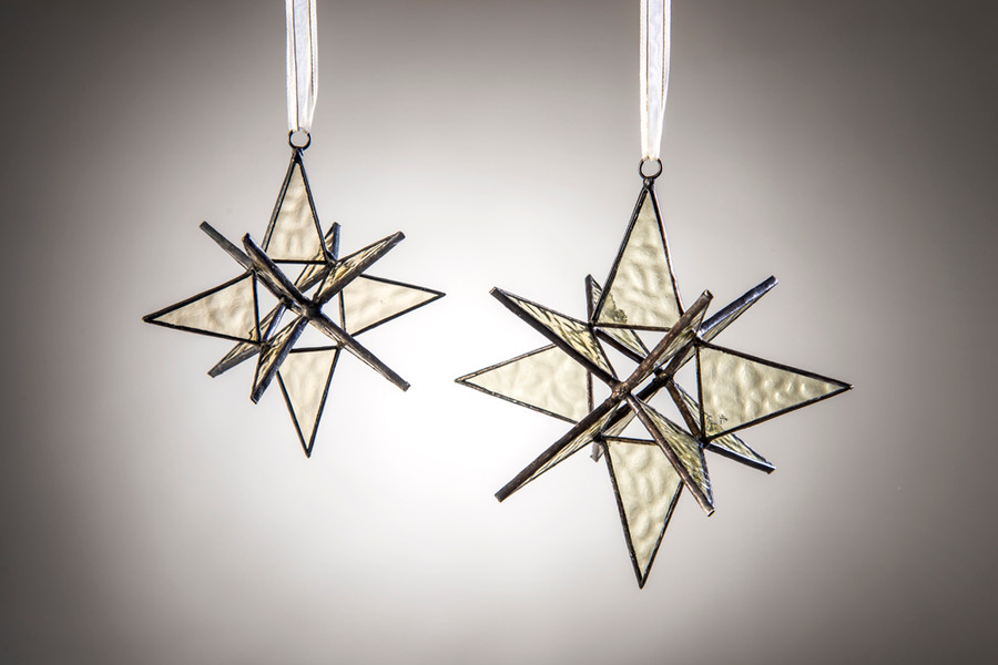 Orn 250 small star ornament and Orn 251 large star ornament