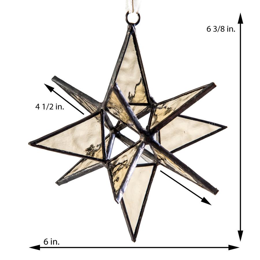 J. Devlin Orn 251 Large Dimensional Moravian Glass Star Ornament