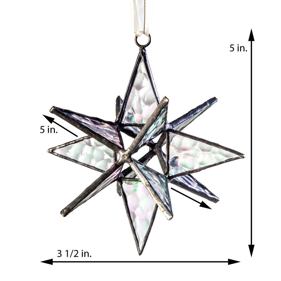 J. Devlin Orn 252 Small Clear Star Ornament Dimensional Star