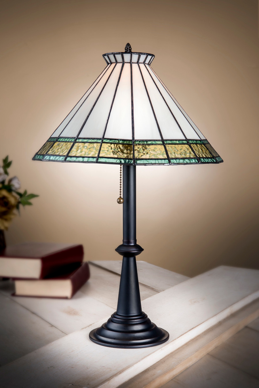 J. Devlin Lam 654-2 English Muffle table lamp