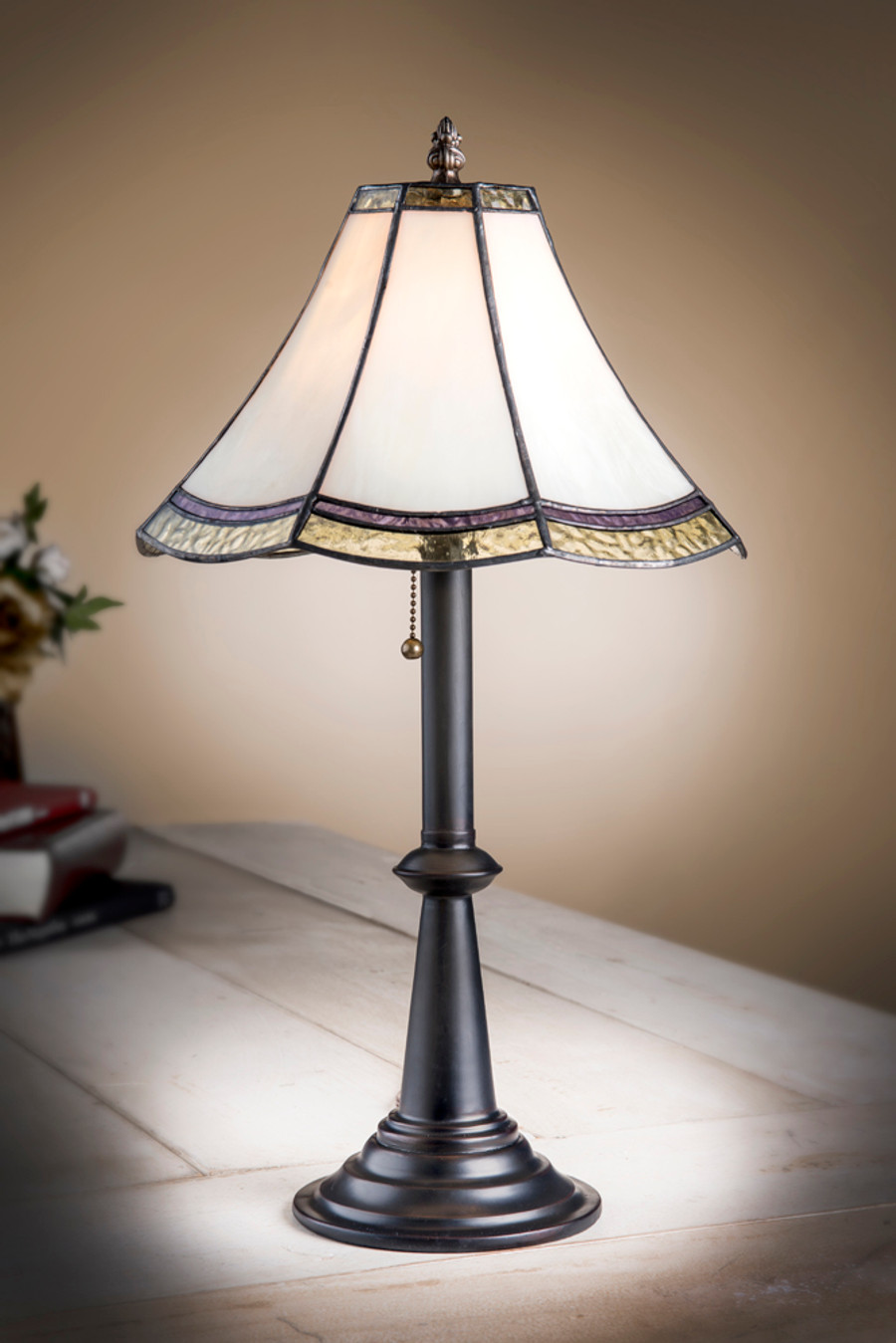 J. Devlin Lam 597-4 TB glass table lamp.