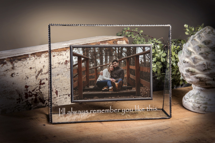 Personalized Gifts-J Devlin Glass Photo Frame-Mom-Engraved 4x6 Horizontal Picture Frame Pic 319-46H EP509