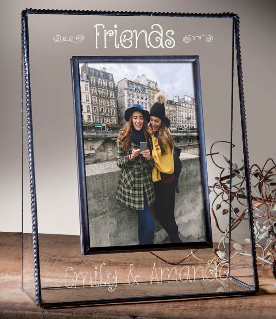 Personalized Friends Engraved Horizontal or Vertical Picture Frame Pic 319 EP504 Series