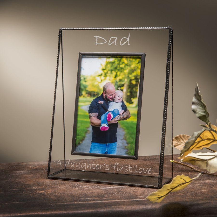 4x6 Vertical Dad A Daughter's First Love Engraved Picture Frame EP533